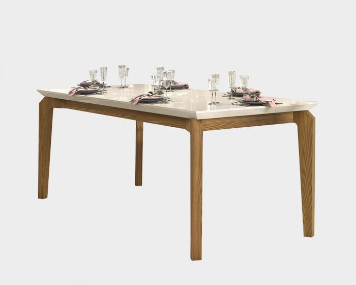 Rouge Dining Table 1700 Carvalho Nobre/Off White