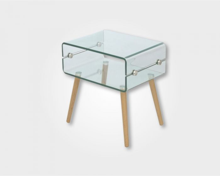 Deco Lamp Table - Glass Top
