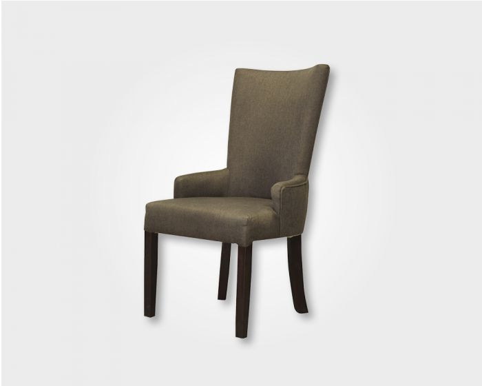 Regal Dining Chair-Brown Fabric