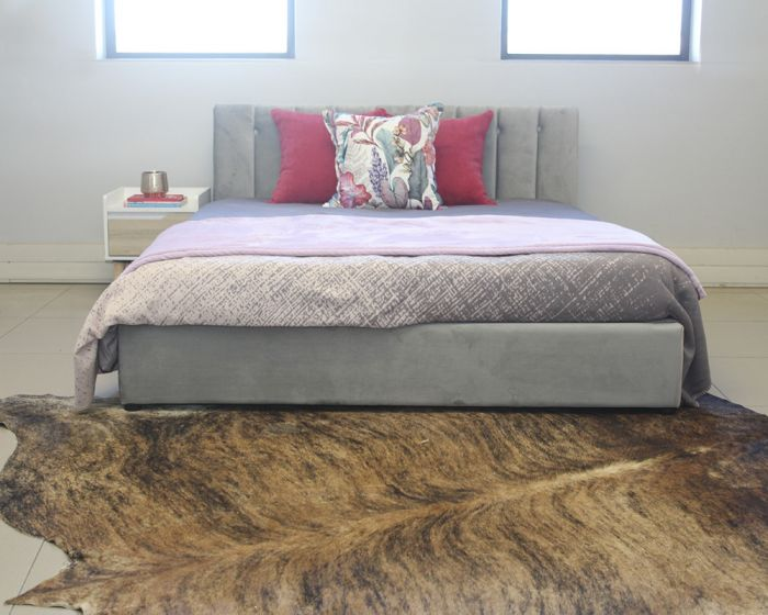 Capri Queen Fabric Bed with Storage