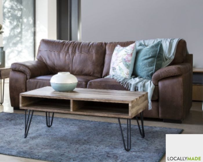 Carson 3 Seater Couch In Full Leather-Zambezi Spice