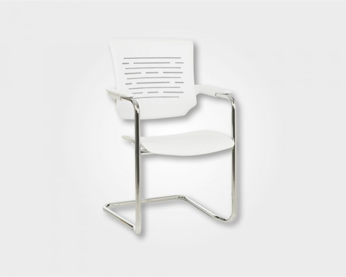 Chess Visitors Office Chair-White