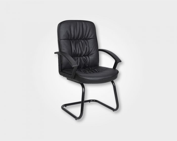 Fire Visitors Office Chair-Black