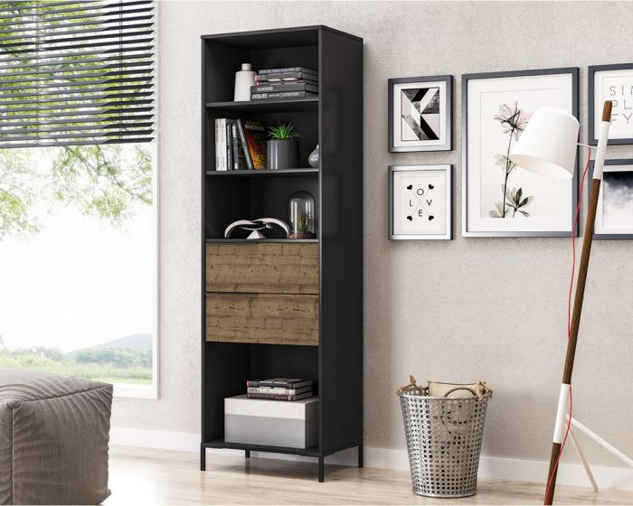San Franscisco Cabinet With Drawers-Black Smooth