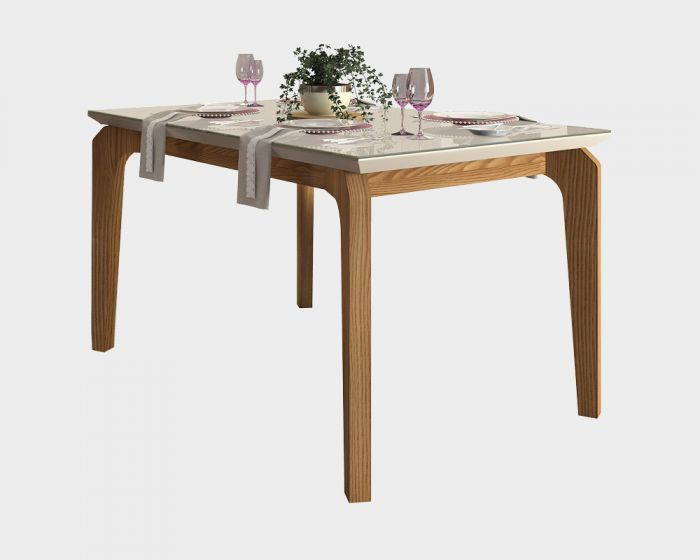 Rouge Dining Table 1400 Carvalho Nobre/Off White